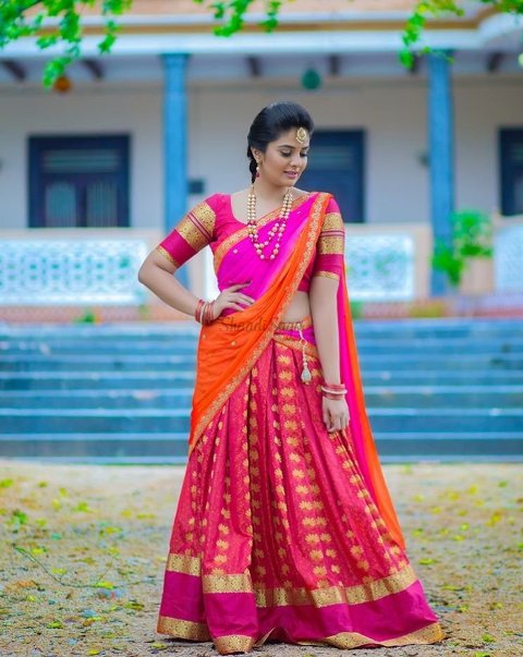Pink Outfit For your Pellikuthuru Wedding