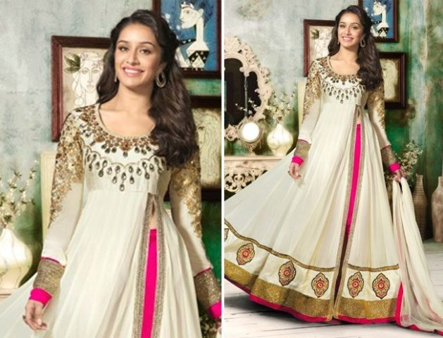 Shraddha-kapoor-in-awesome-floor-touch-anarkali