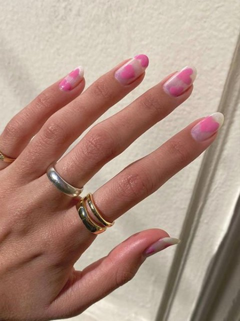 Baby-Pink-Love-Heart-Nails