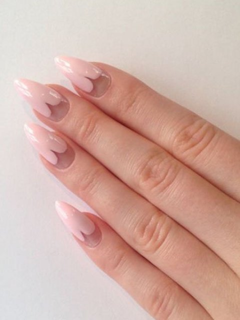 Pastel-Pink-Love-Heart-Nails