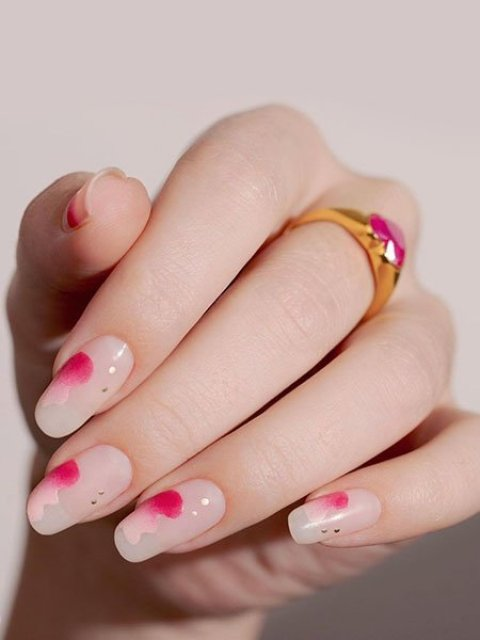 Pink-Accents-Valentines-Day-Nails