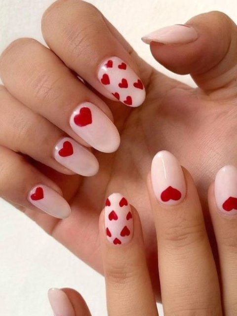 Red-Hearts-All-Over-Nails