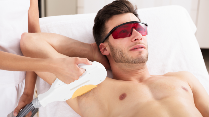 armpit hair removal in a man